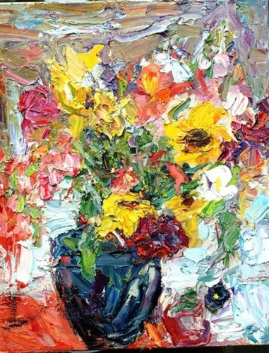 Blue Vase with Flowers (large view)