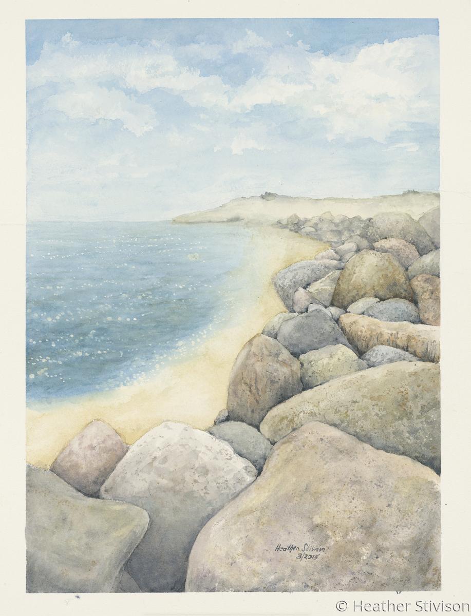 Coastal Boulders (print) (large view)