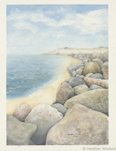 Coastal Boulders (print)