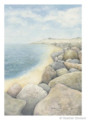 Giclee Card-Coastal Boulders