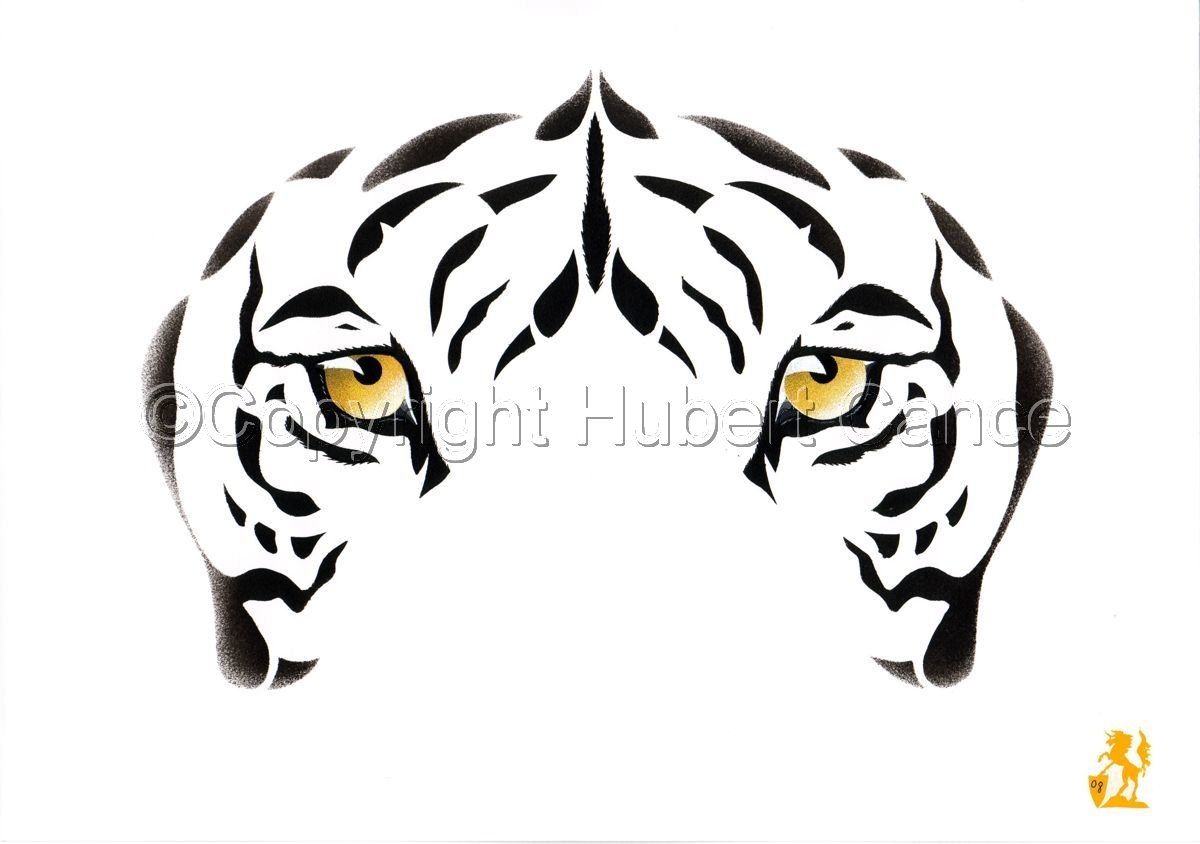 """Indian White Tiger"" (large view)"