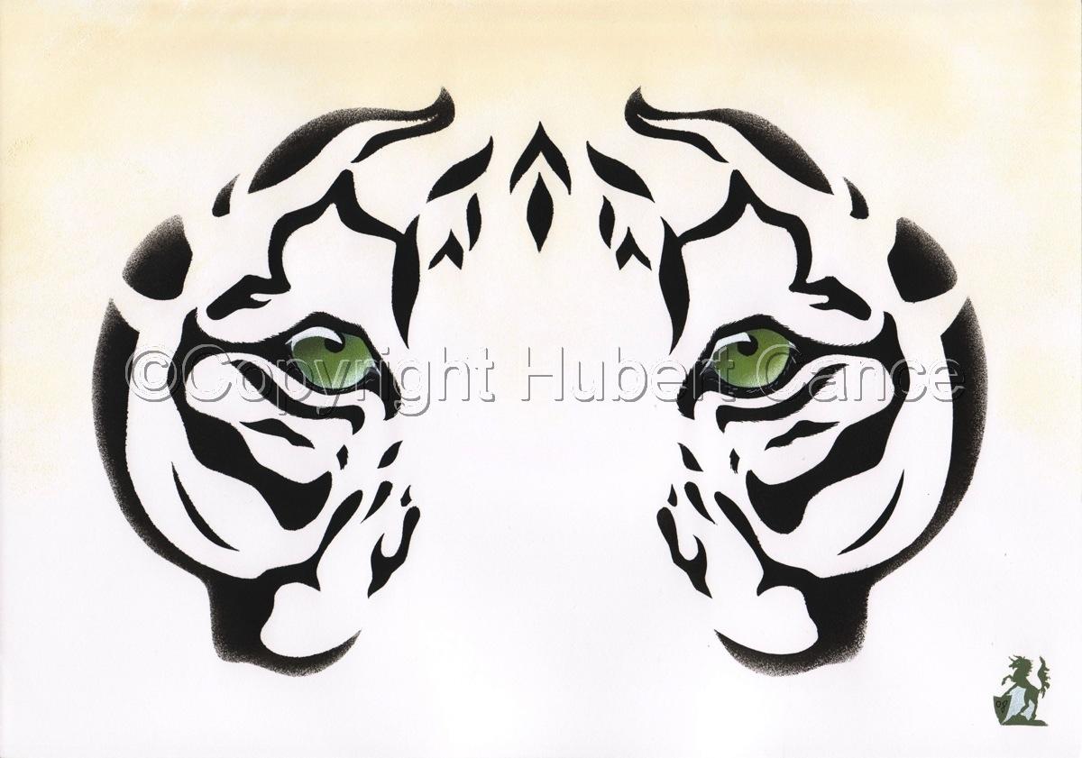 """Siberian White Tiger"" (large view)"