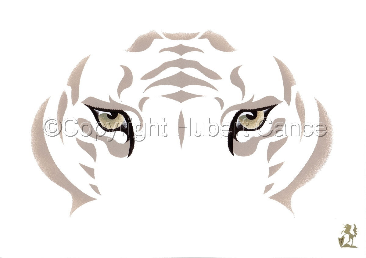 """""""Snow Tiger"""" (large view)"""