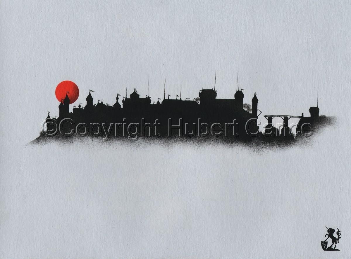 """""""Carlat Castle"""" (large view)"""