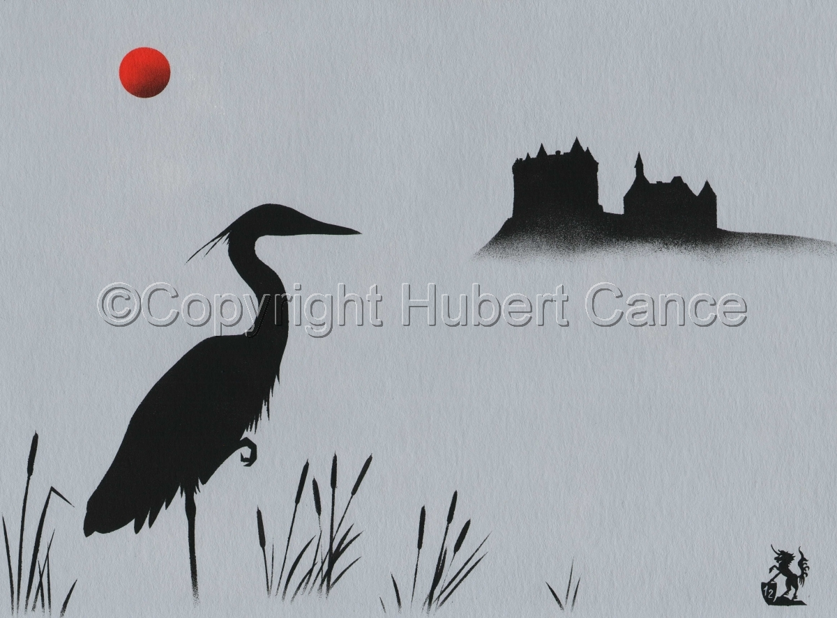 """Heron at Val Castle"" (large view)"