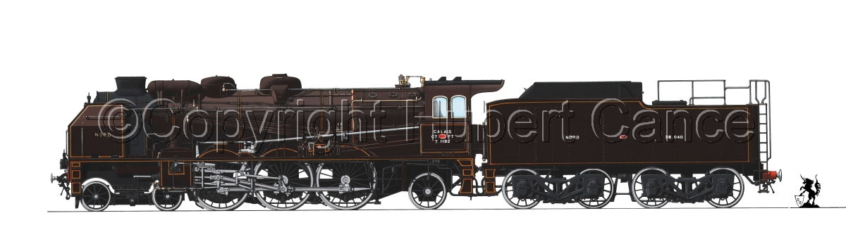 Pacific 231 Chapelon Nord (France) (With Tender) #1.1 (large view)