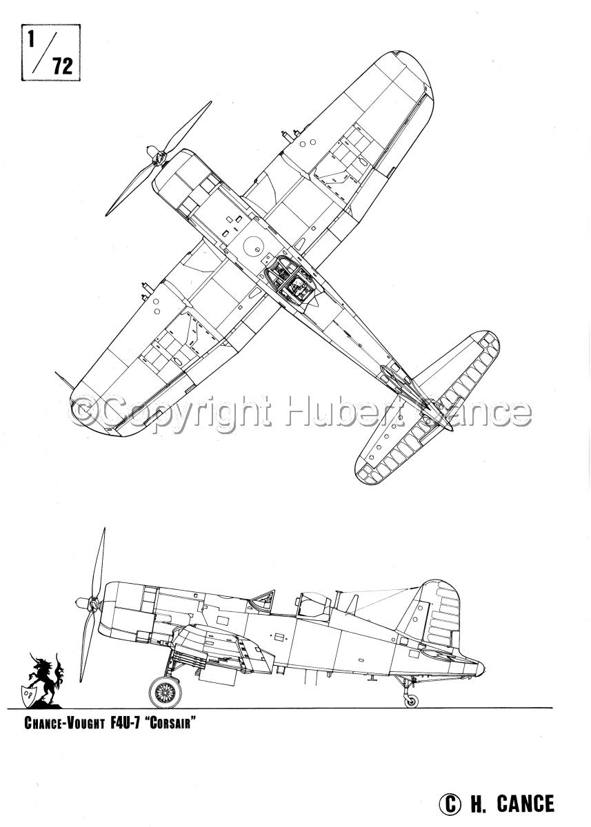 """Chance-Vought F4U-7 """"Corsair"""" (large view)"""