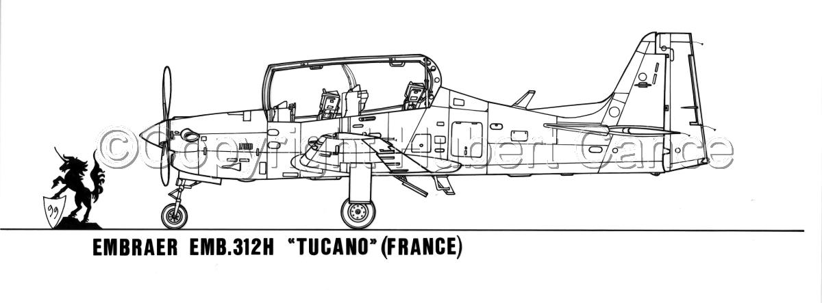 "Embraer EMB312H ""Tucano"" (large view)"