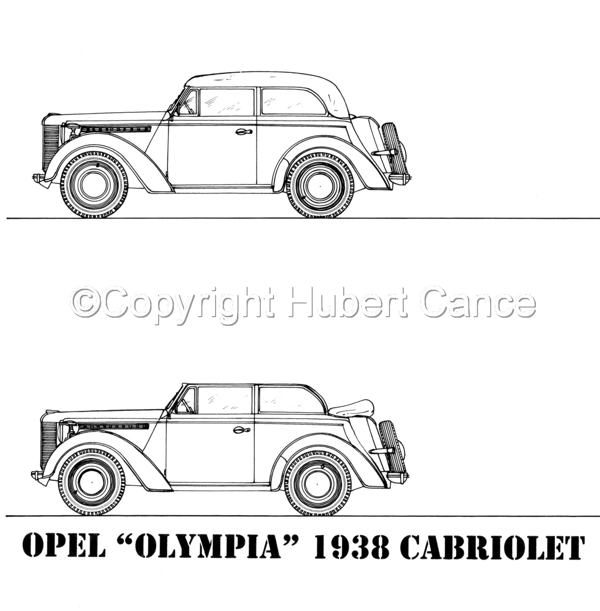 "Opel ""Olympia"" Cabriolet (large view)"