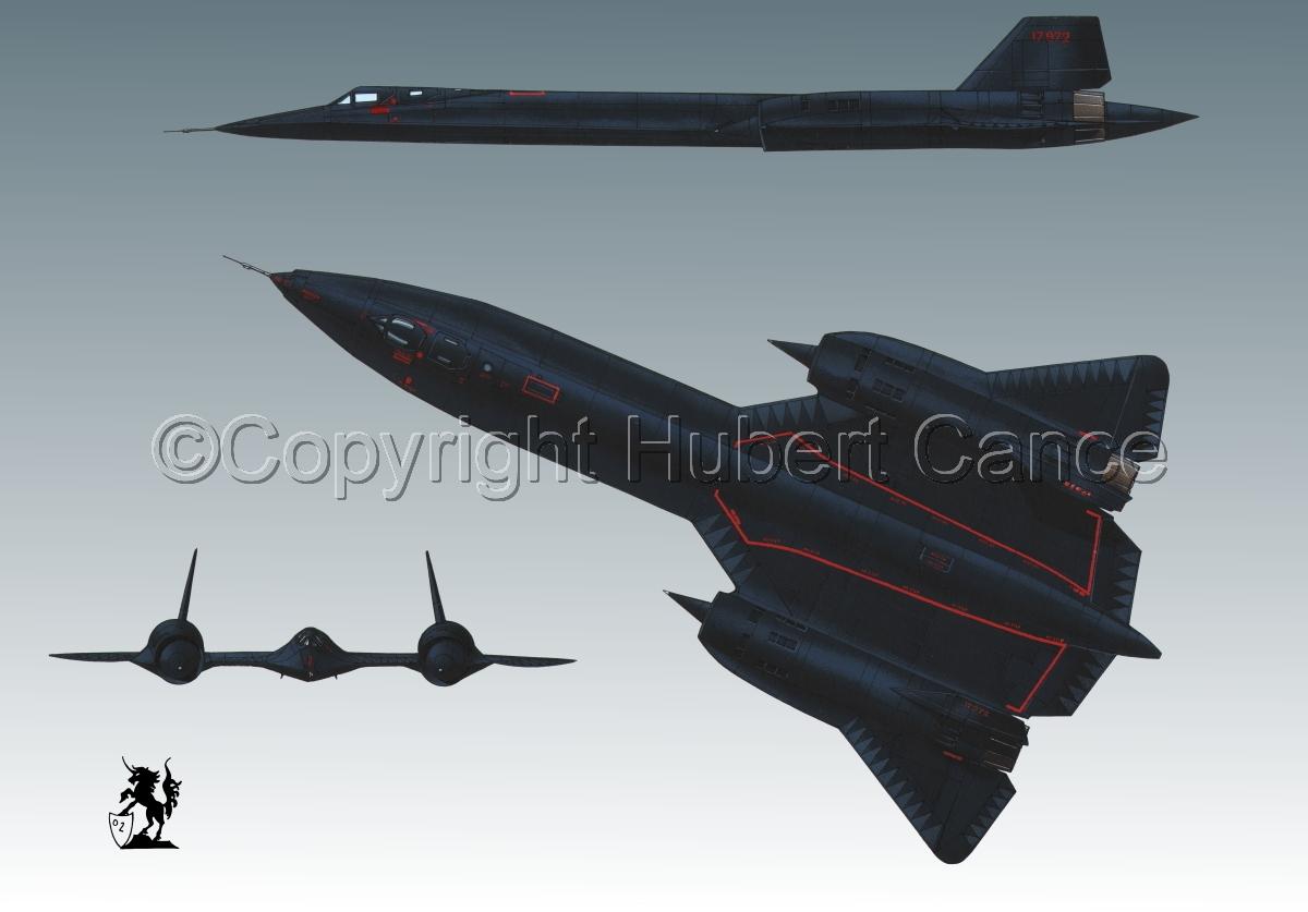 "Lockheed SR-71A ""Blackbird"" #3 (large view)"