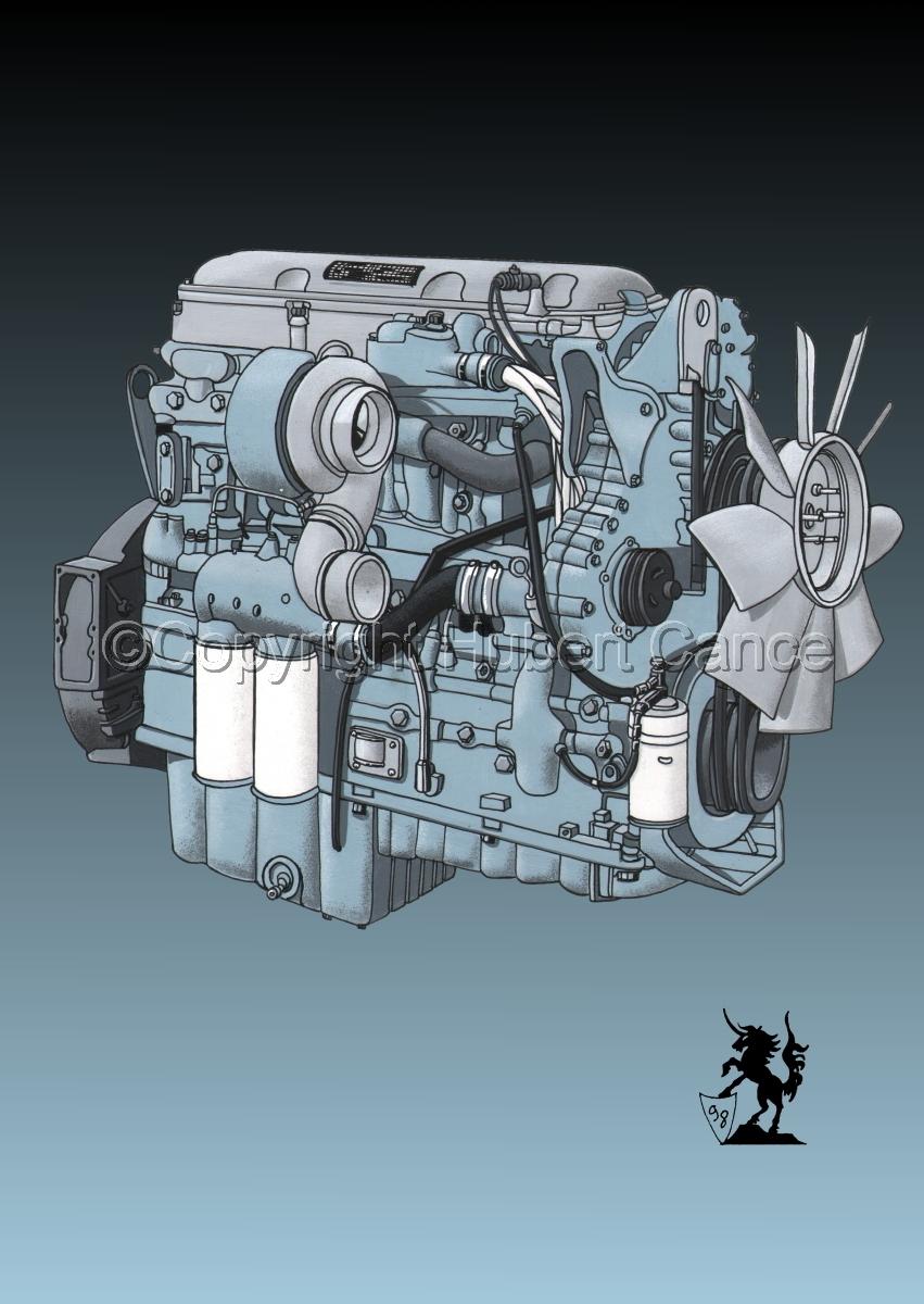 Detroit Series 60 Diesel Engine #2 (large view)