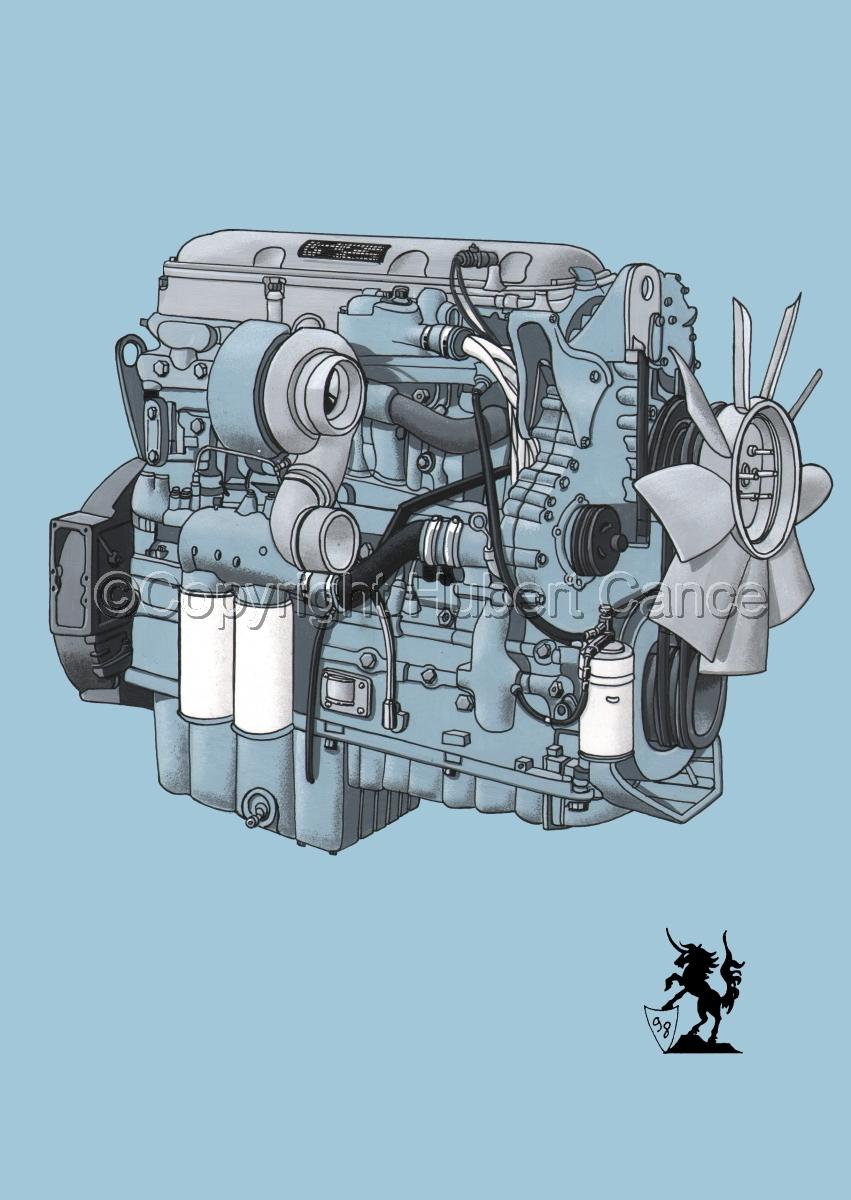 Detroit Series 60 Diesel Engine #1 (large view)