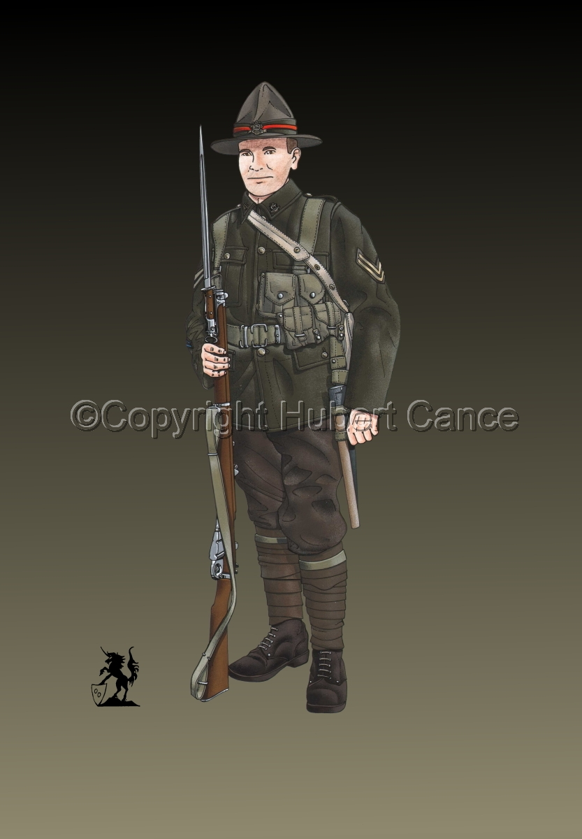 Corporal, 6th. (Hauraki) Infantry Regiment, New Zealand Rifles, France (1917) #2 (large view)