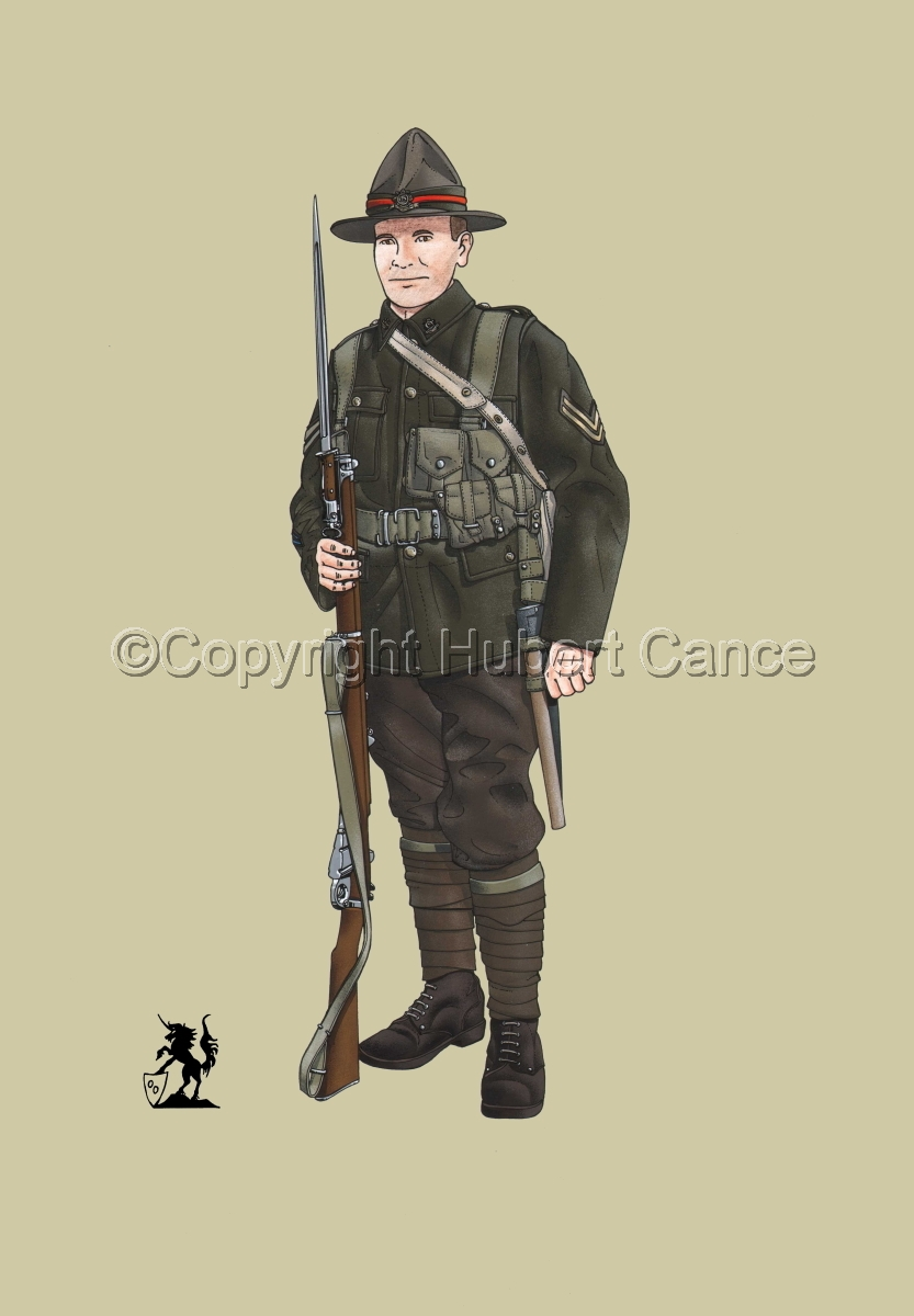 Corporal, 6th. (Hauraki) Infantry Regiment, New Zealand Rifles, France (1917) #1 (large view)