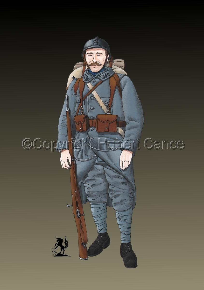 French 139eme Regiment d'Infanterie (1915) #2 (large view)
