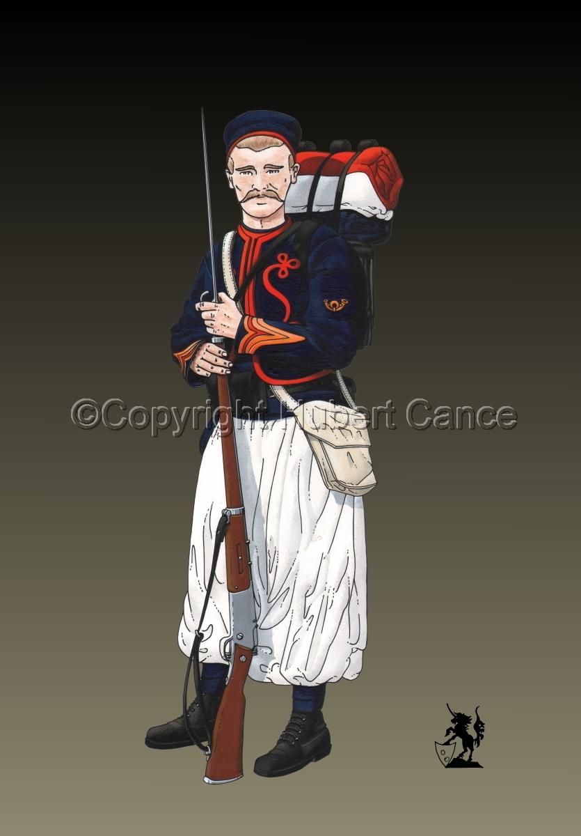 Sergent, rengage, 1er Regiment de Zouaves (1914) #2 (large view)