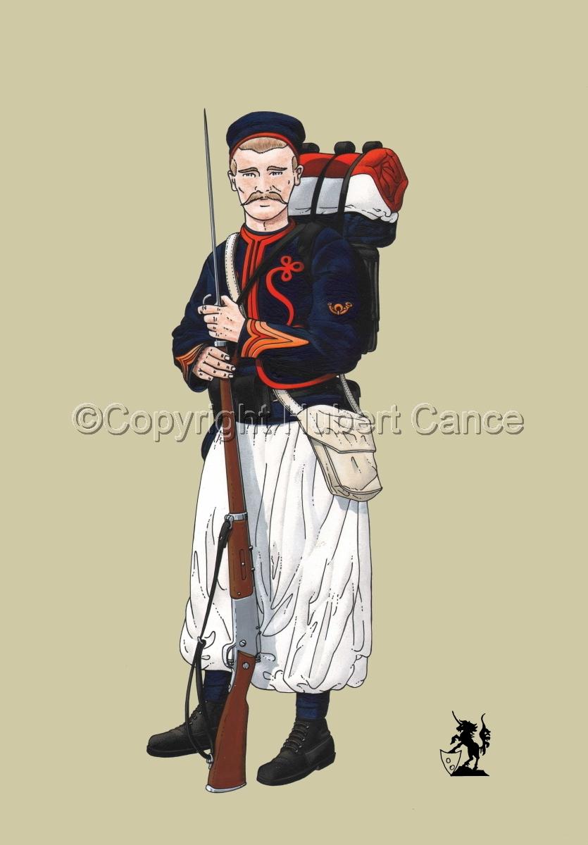 Sergent, rengage, 1er Regiment de Zouaves (1914) #1 (large view)
