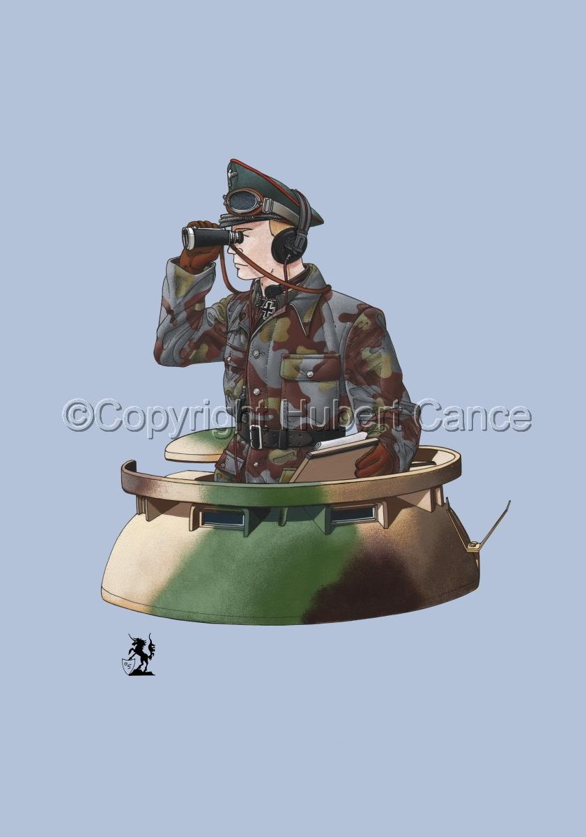 German Panther Tank Commander (1944) #1 (large view)