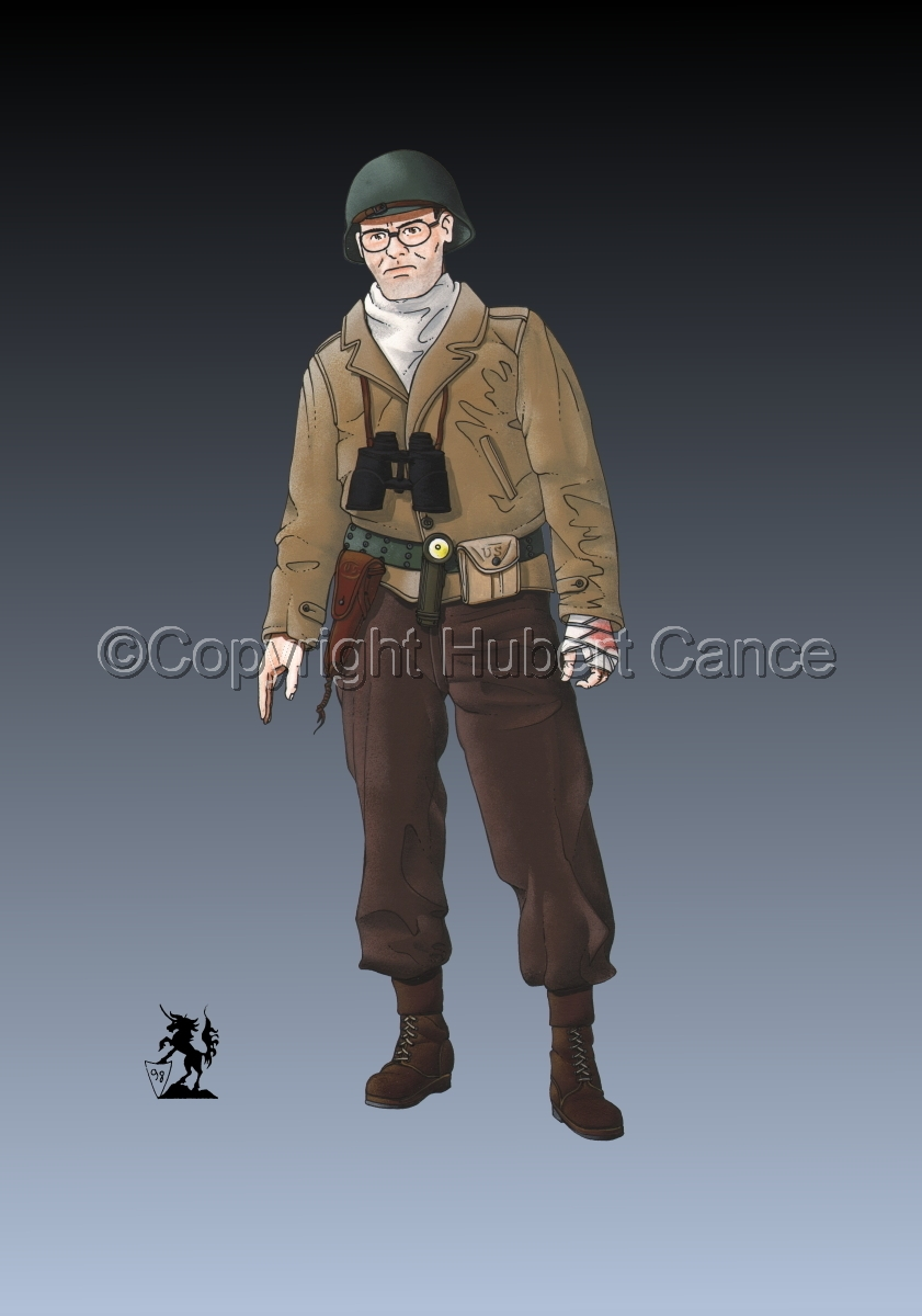 US Army Infantry Officer, Normandie, France (1944) #2 (large view)