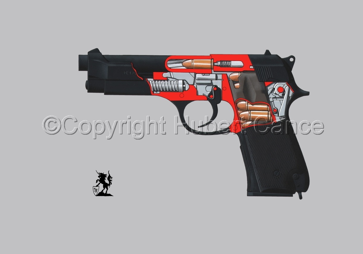Beretta M9-92F (Cutaway #2) (large view)