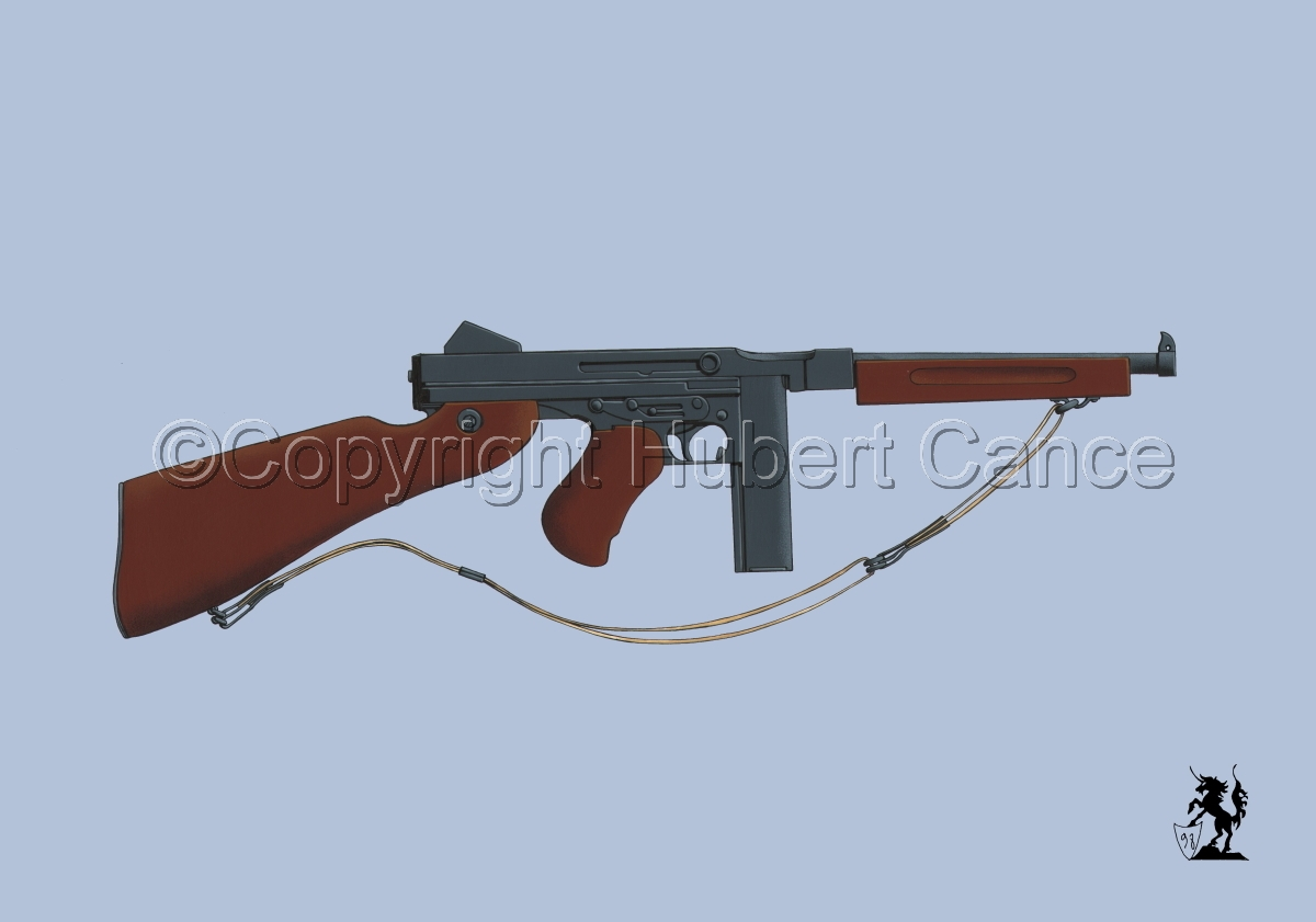 Thompson M1A1 Machine-Gun #2 (large view)