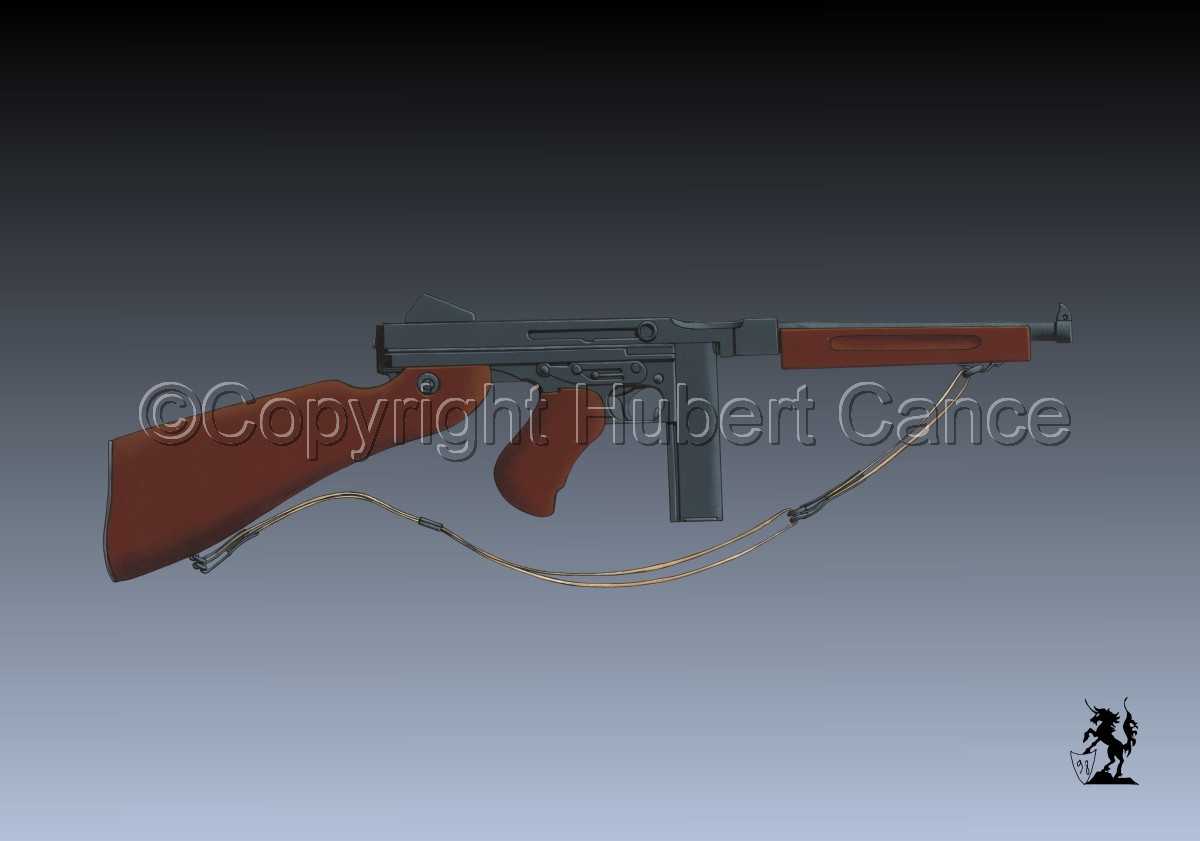 Thompson M1A1 Machine-Gun #3 (large view)