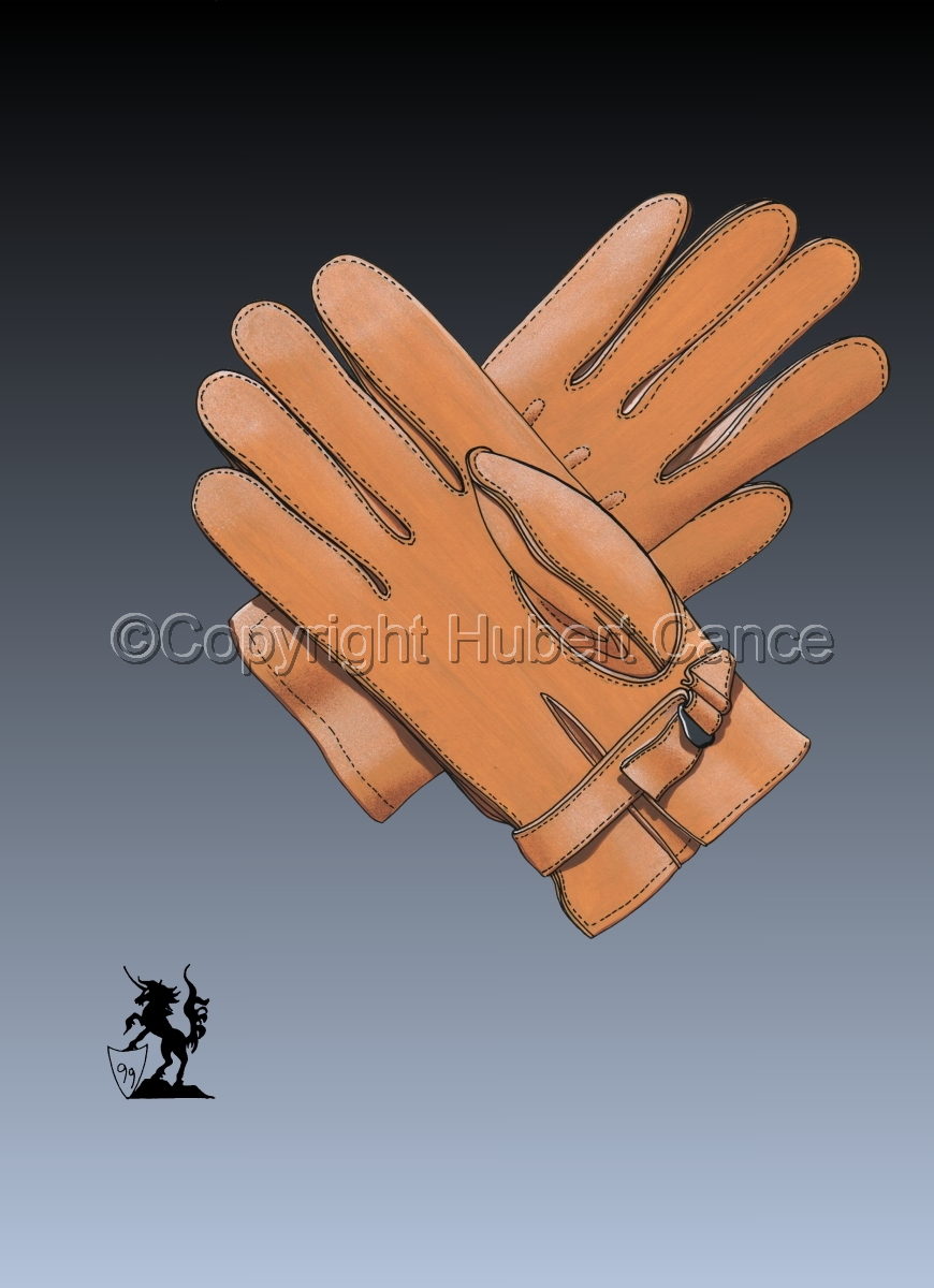 US Paratroop gloves, Horsehide, Riding unlined (WW2) #3 (large view)