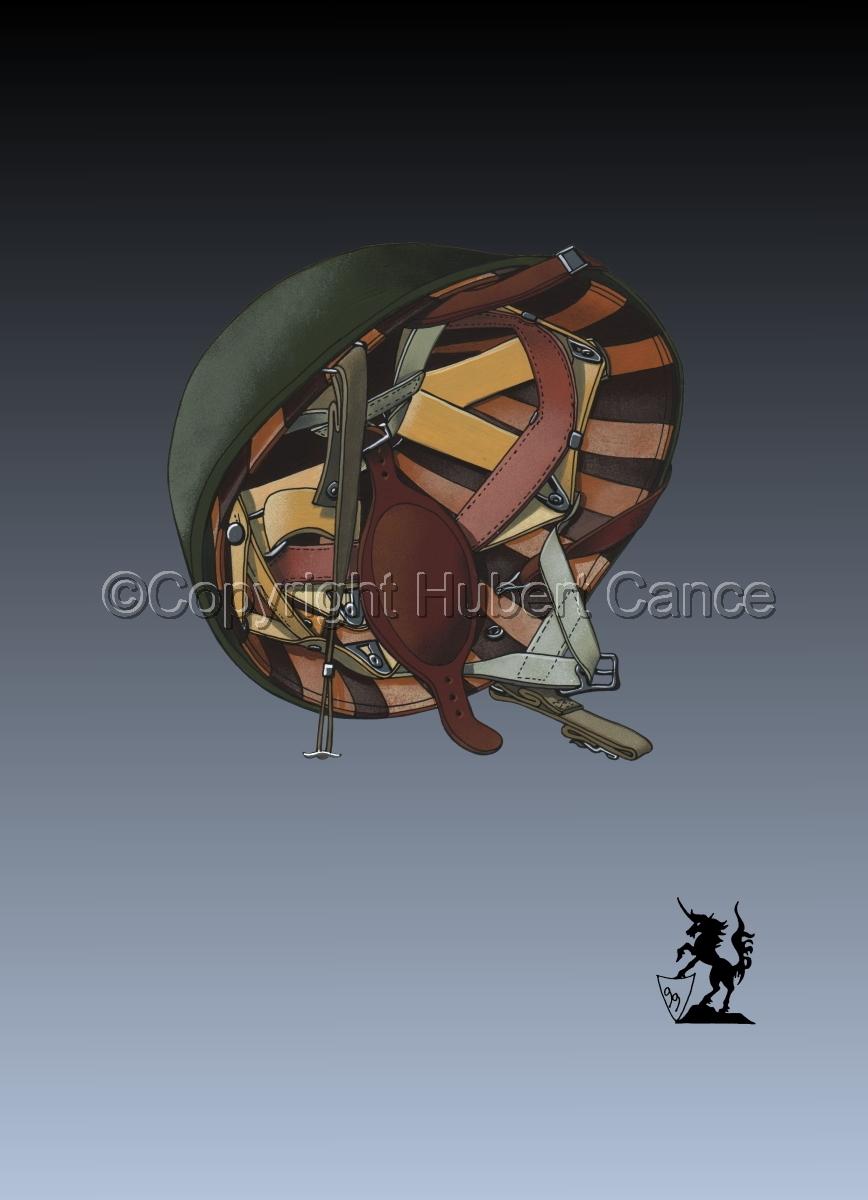 US M1C Paratroop helmet #3 (large view)