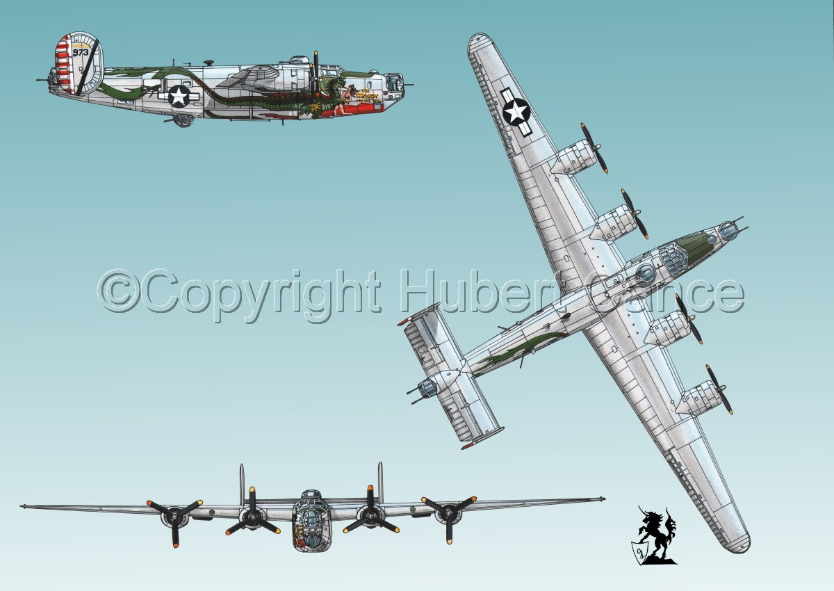 """Consolidated B-24J-190 """"Liberator"""" #3 (large view)"""