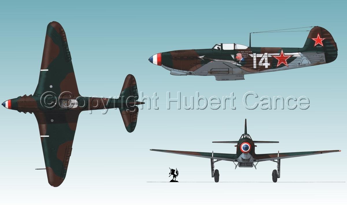 """Yakovlev Yak-9D"" 3-Views #1.3 (large view)"