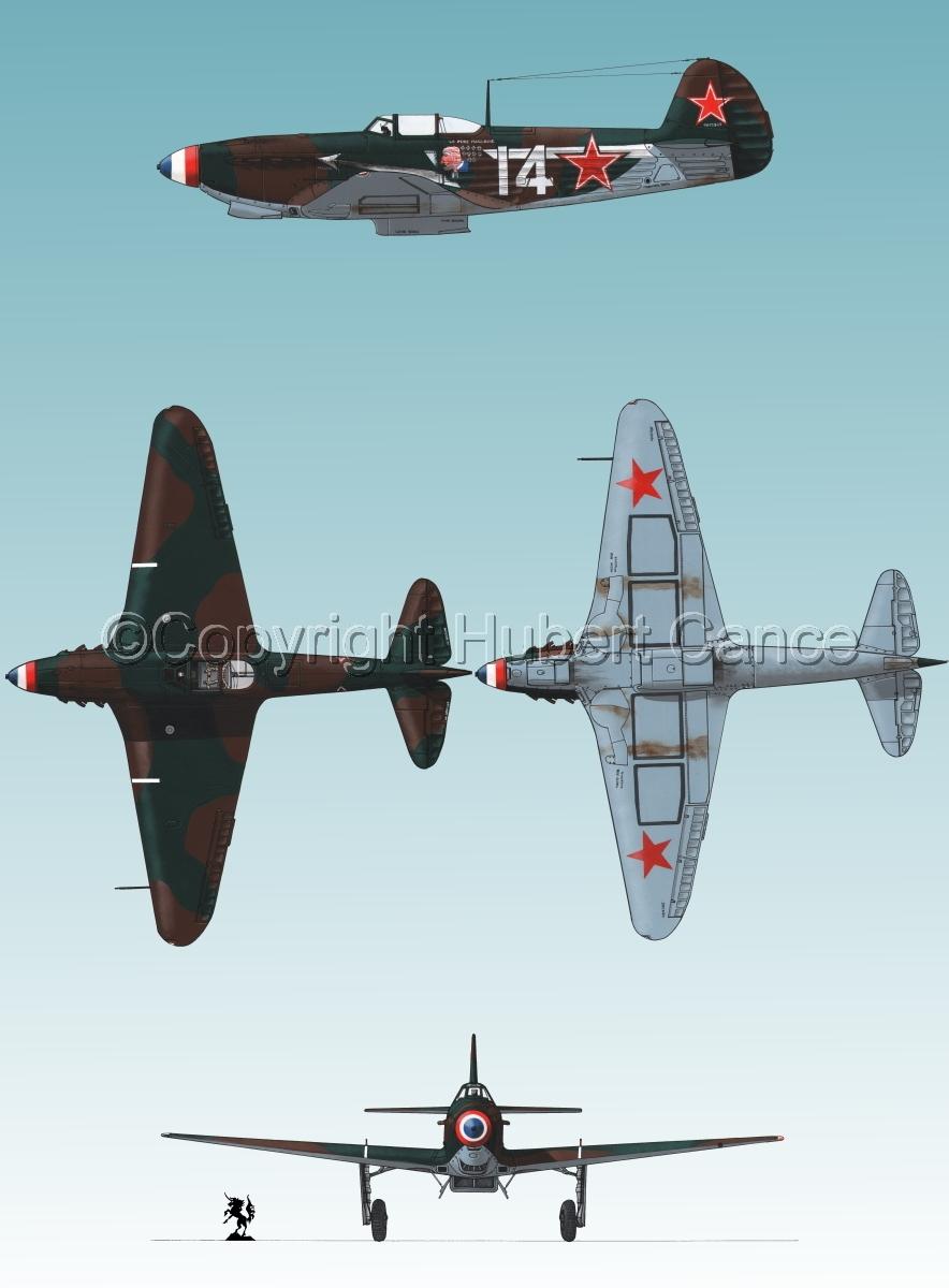 """Yakovlev Yak-9D"" 4-Views #1.3 (large view)"