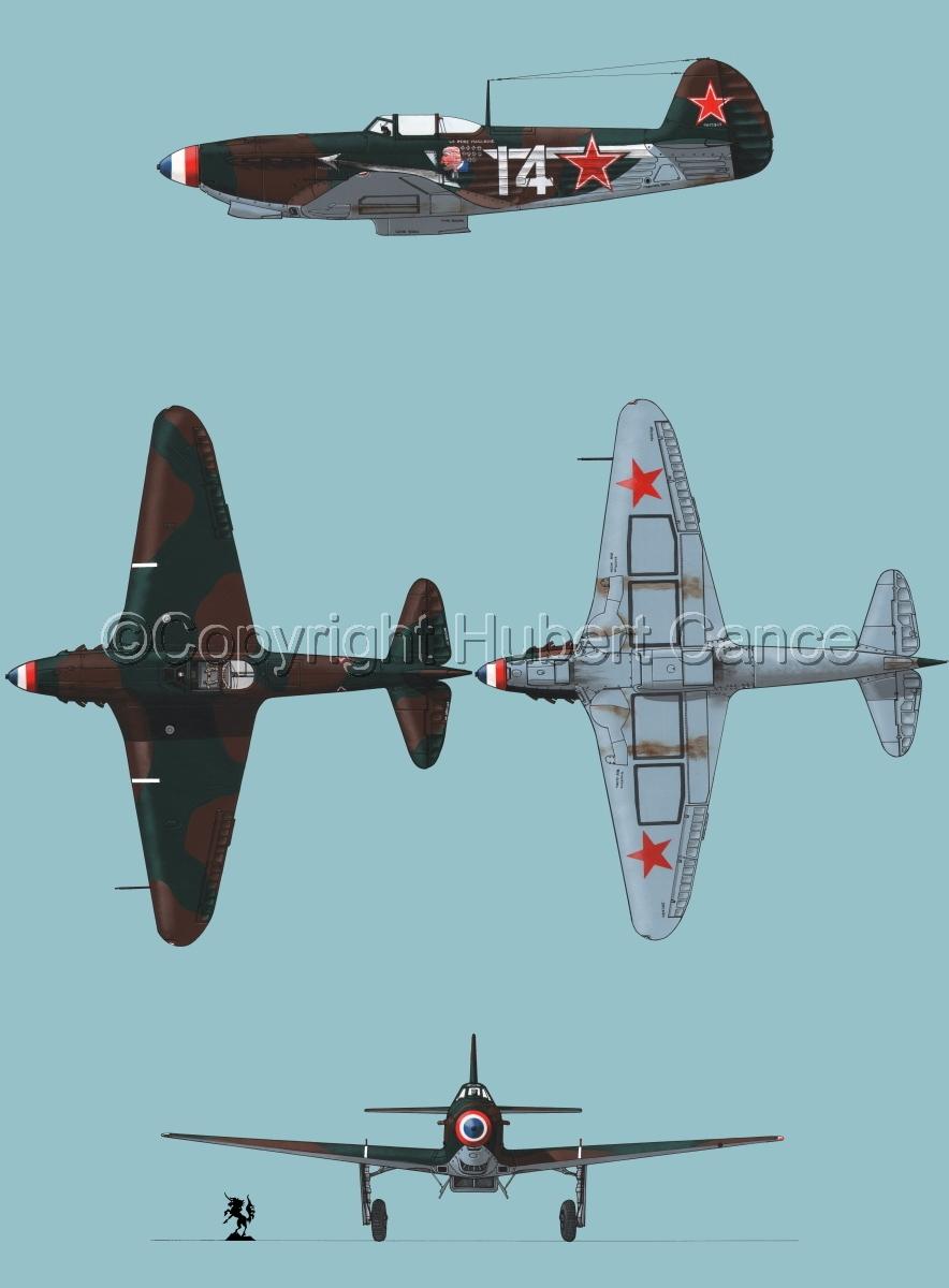 """Yakovlev Yak-9D"" 4-Views #1.2 (large view)"