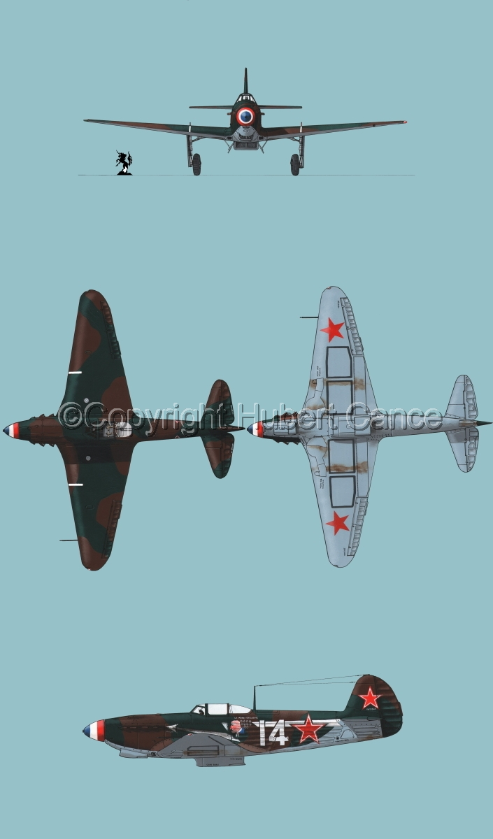 """Yakovlev Yak-9D"" 4-Views #2.2 (large view)"