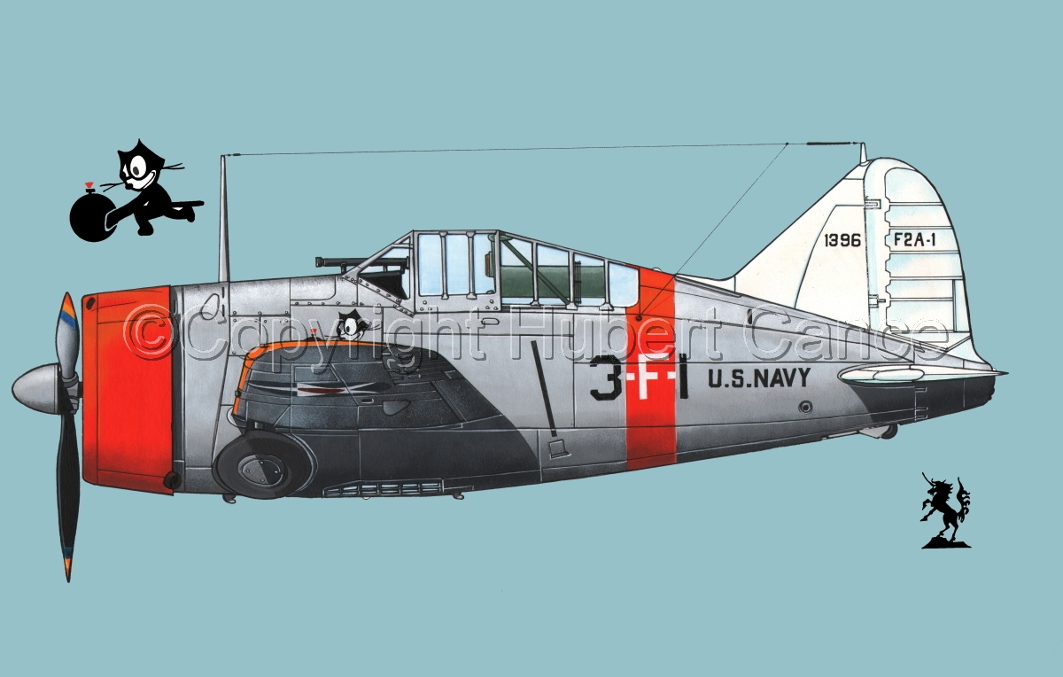 """Brewster F2A-1 """"Buffalo"""" #1.2 (large view)"""