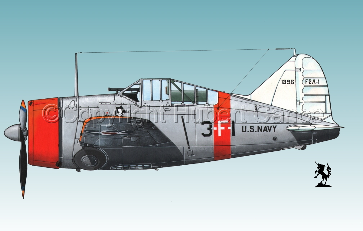 """Brewster F2A-1 """"Buffalo"""" #1bis.3 (large view)"""