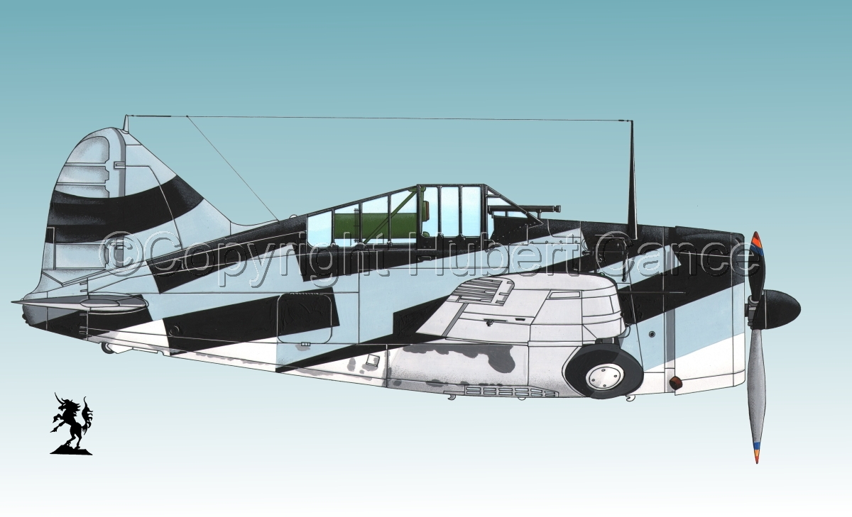 """Brewster F2A-1 """"Buffalo"""" #3bis.3 (large view)"""