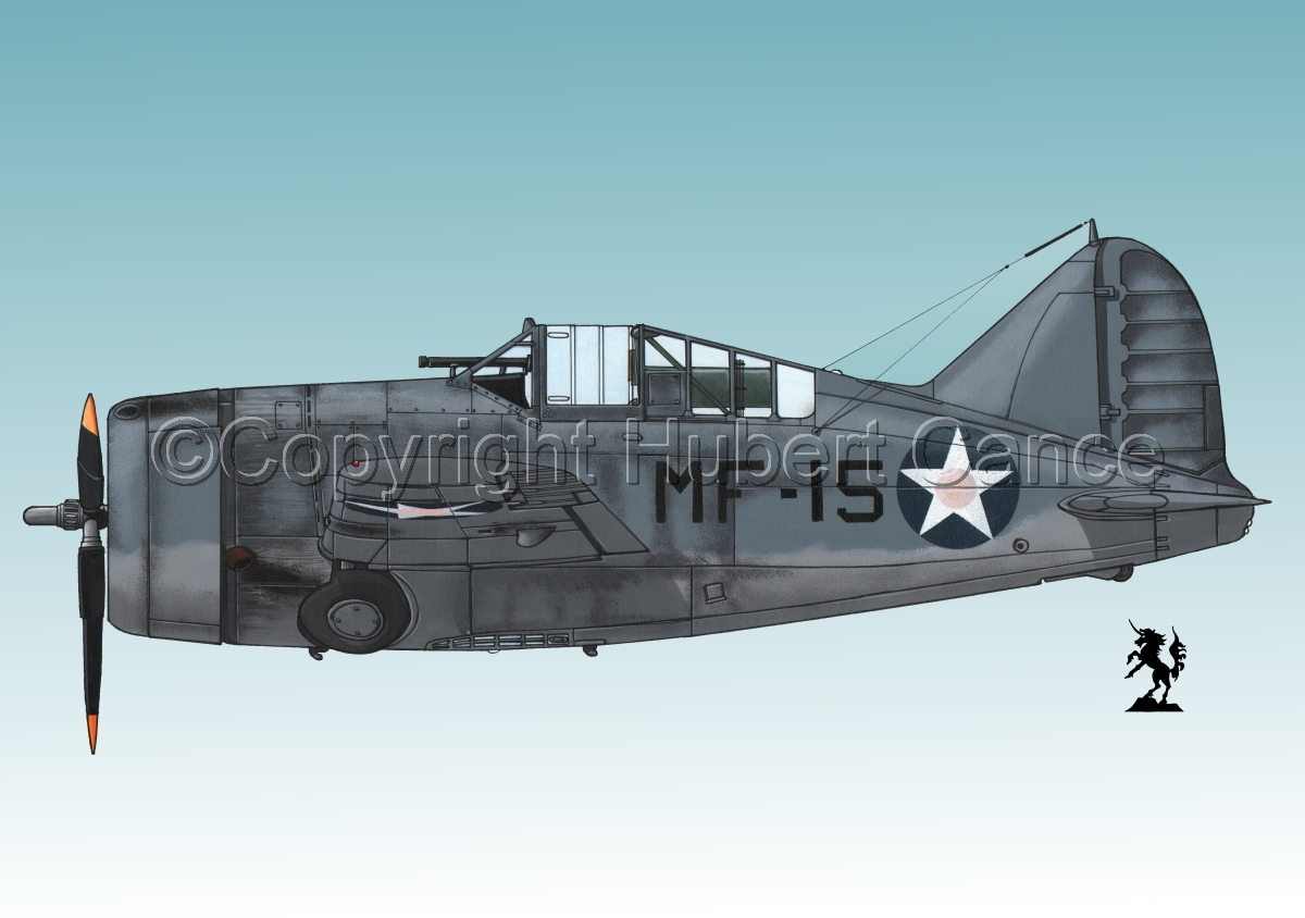 """Brewster F2A-3 """"Buffalo"""" #1.3 (large view)"""