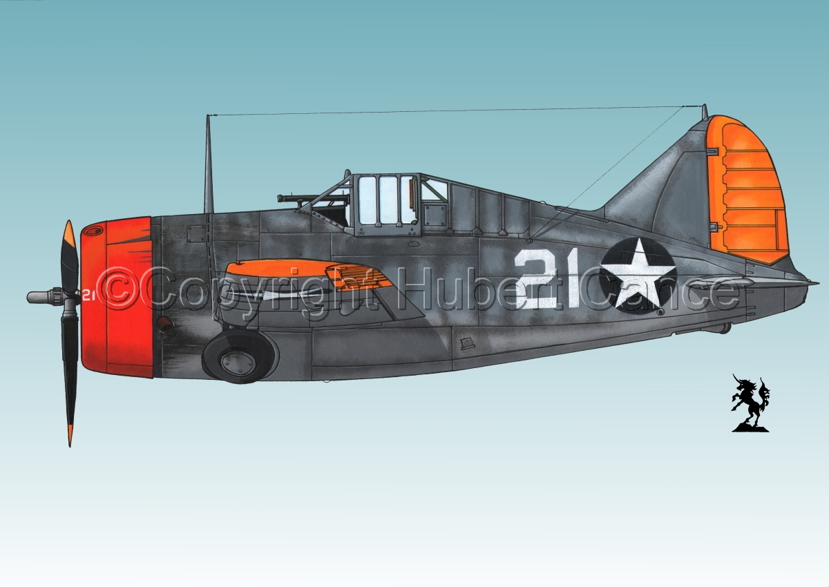"Brewster F2A-3 ""Buffalo"" #2.3 (large view)"