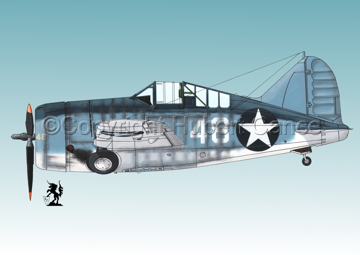 "Brewster F2A-3 ""Buffalo"" #3.3 (large view)"