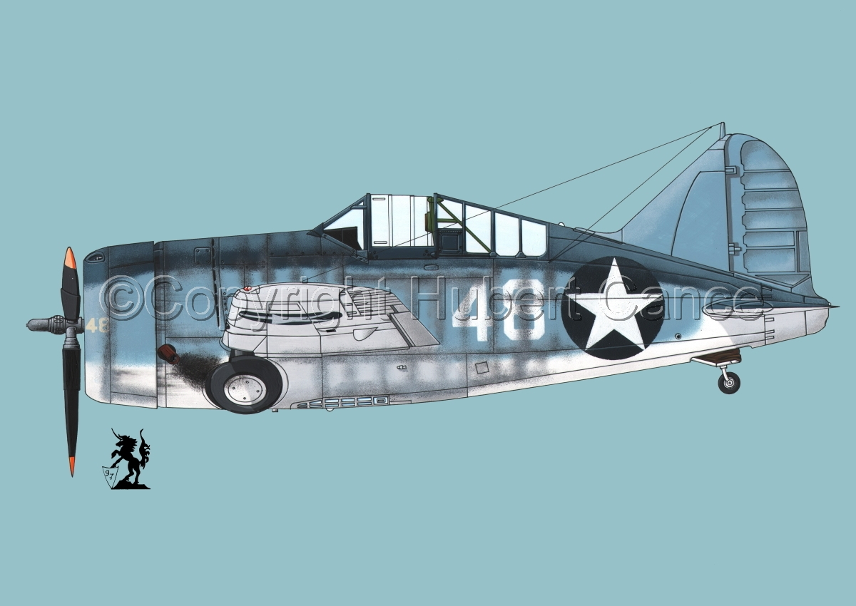 "Brewster F2A-3 ""Buffalo"" #3.2 (large view)"
