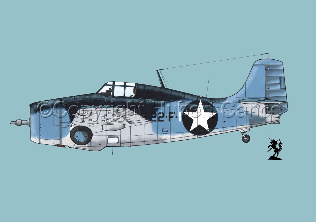 """Grumman F4F-4 """"Wildcat"""" #3.2 (large view)"""