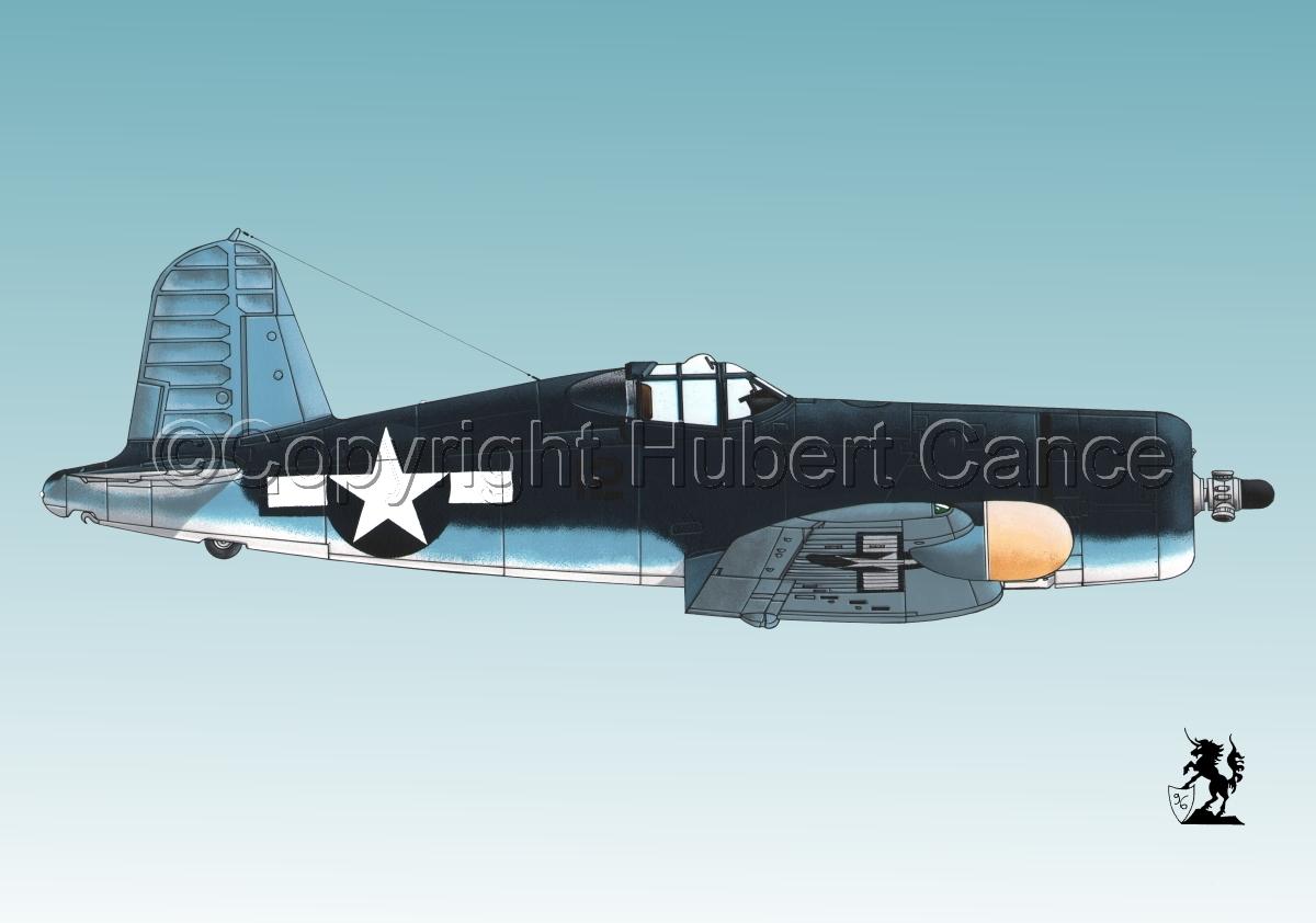 """Chance-Vought F4U-2 """"Corsair"""" #3 (large view)"""