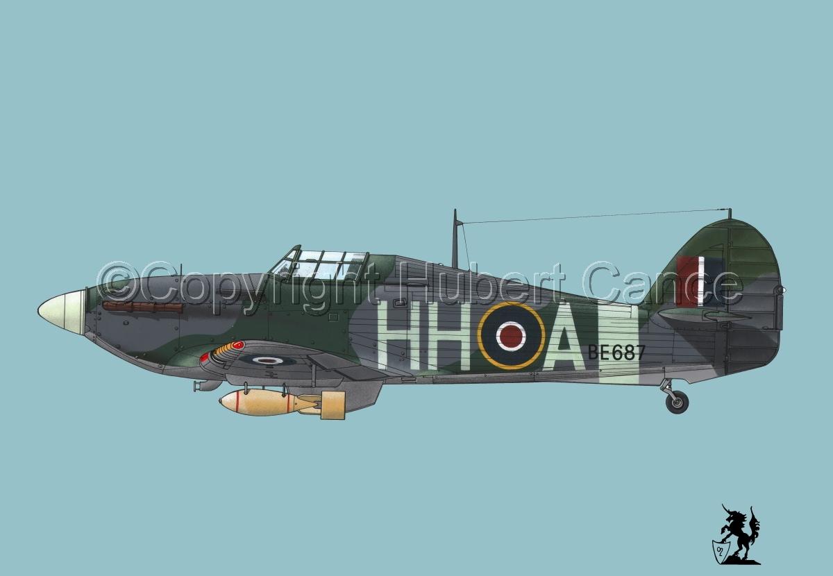 """Hawker """"Hurricane"""" Mk.IIb """"Hurribomber"""" #1bis.2 (large view)"""