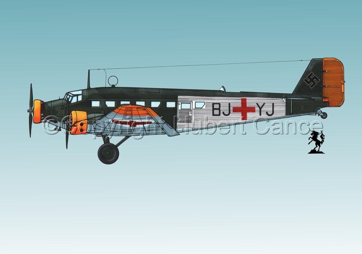 Junkers Ju 52/3m Sanitätsflugzeug  #1.3 (large view)