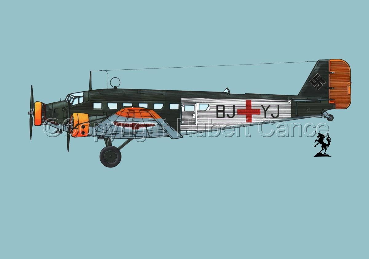 Junkers Ju 52/3m Sanitätsflugzeug #1.2 (large view)