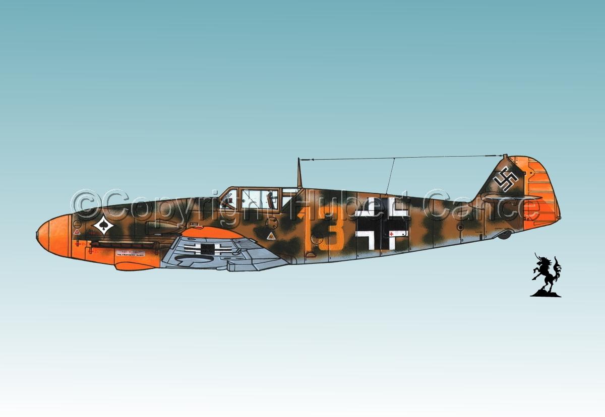"""Messerschmitt Bf 109F-2 """"Friedrich"""" #3.3 (large view)"""