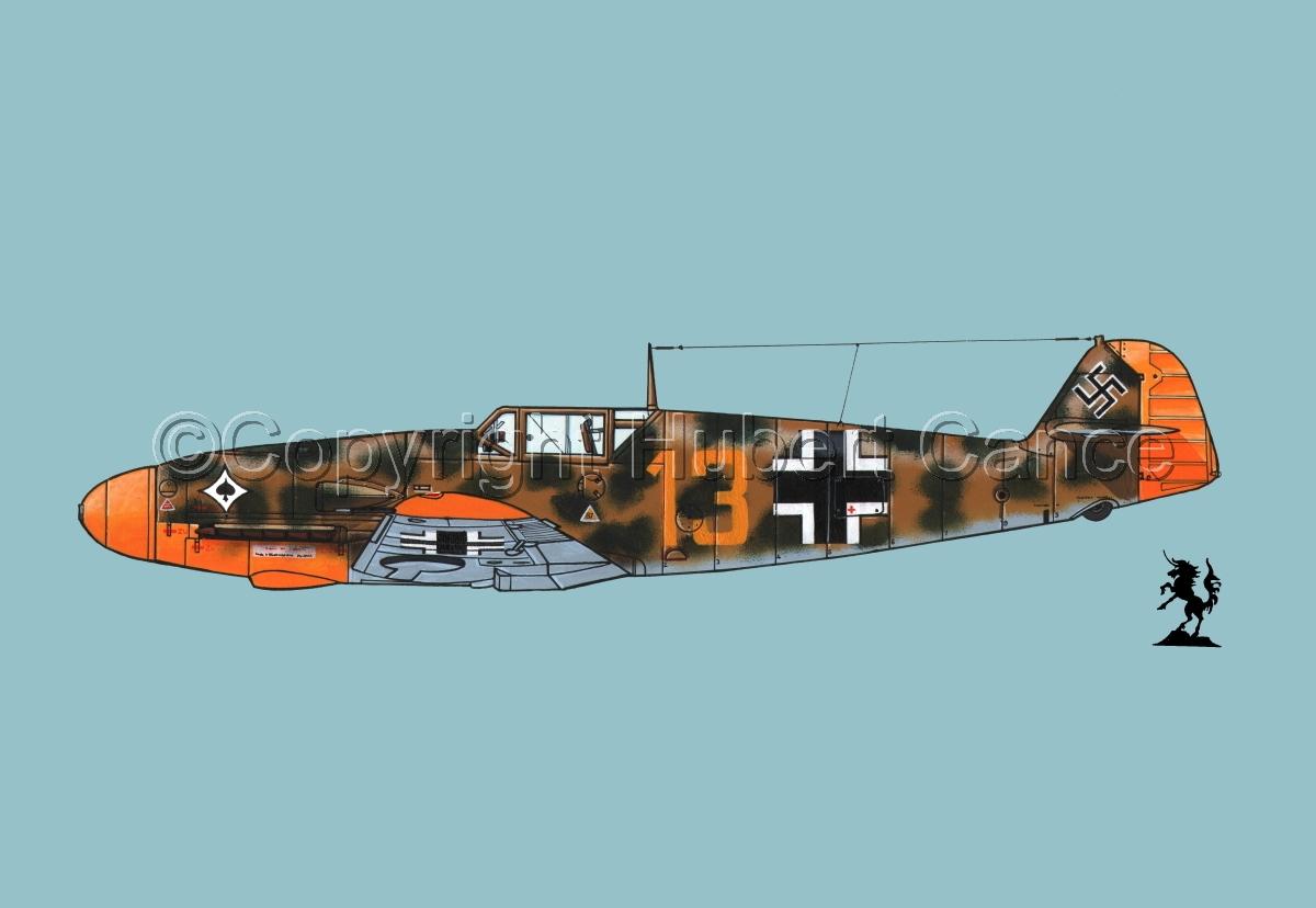 """Messerschmitt Bf 109F-2 """"Friedrich"""" #3.2 (large view)"""