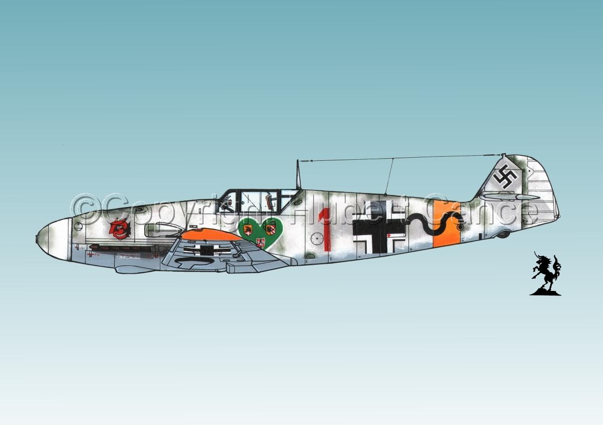 """Messerschmitt Bf 109F-2 """"Friedrich"""" #4.3 (large view)"""