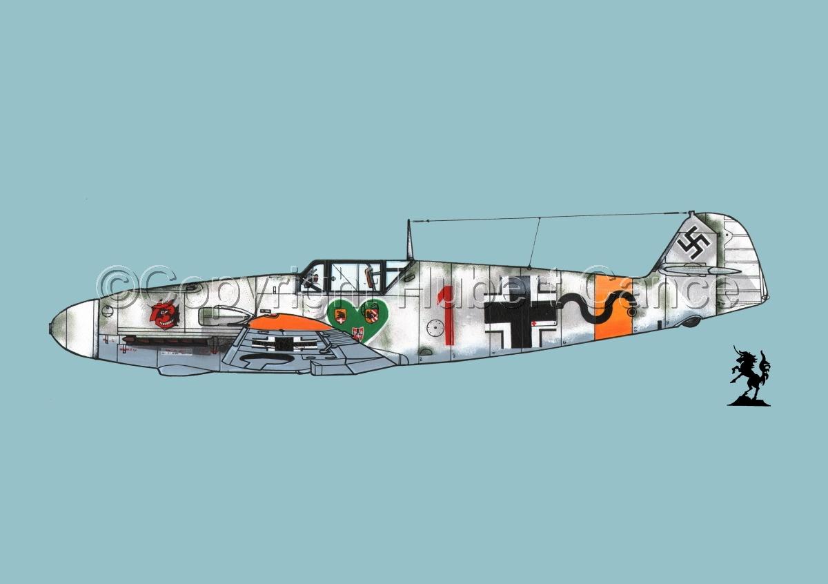 """Messerschmitt Bf 109F-2 """"Friedrich"""" #4.2 (large view)"""
