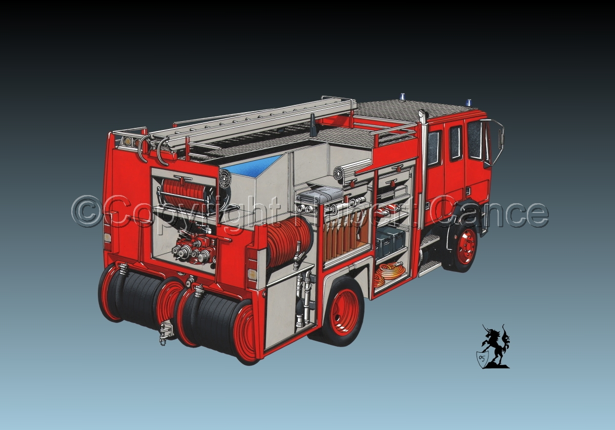 Fire Truck Cutaway #3 (large view)